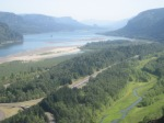 Beautiful View of Columbia River Gorge