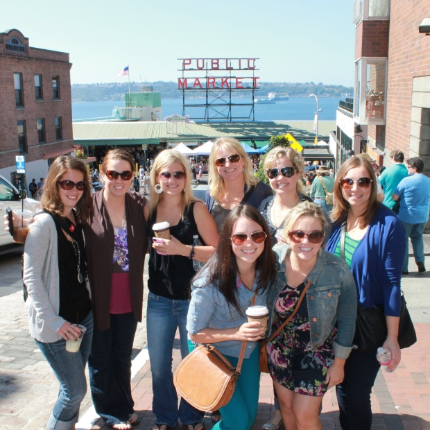 Picture in front of Pike's Place Market Sign