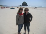 In front of Haystack Rock - Cannon Beach