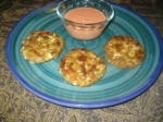 Crab Cakes & Red Pepper Sauce