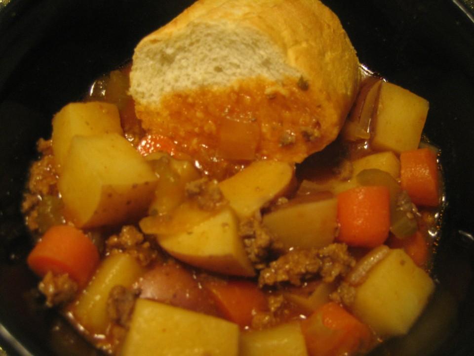 Hamburger Stew Close Up
