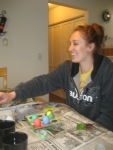 Heather dying eggs!