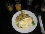 Mimosa and Eggs Florentine at Devil's Food