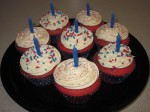 """Happy Birthday America"" Cupcakes"