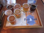 Beer Taster Tray at Full Sail Brewery