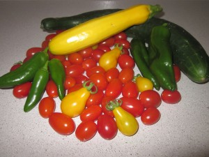 Fresh veggies from the garden