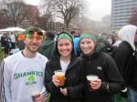 Enjoying a beer at Shamrock Run