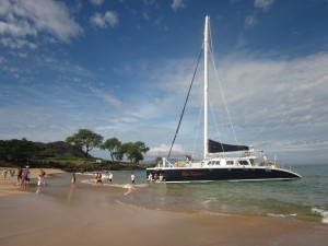 Kai Kanani's Catamaran at Makena Beach