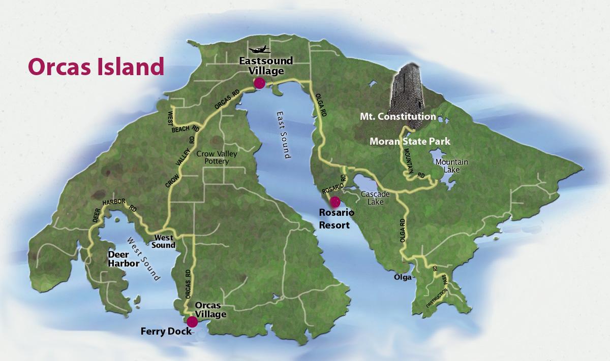 Map Of Anacortes And San Juan Islands