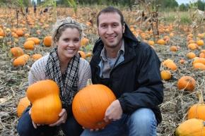 Picking Pumpkins at Kruger's