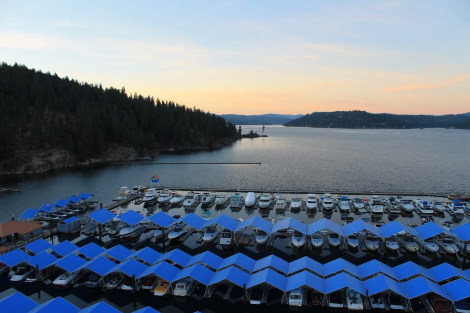 View from Coeur d' Alene Lake Tower Room