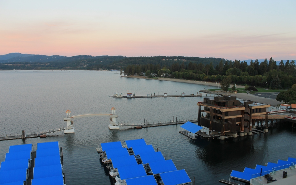 Opposite View from Coeur d'Alene Lake Tower Room