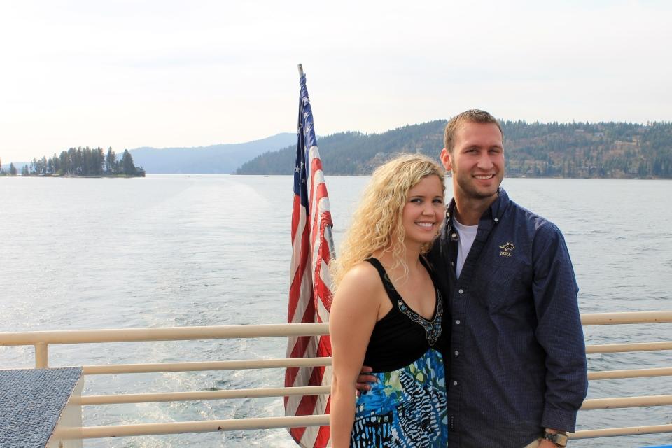 Aboard the Coeur d'Alene lake cruise