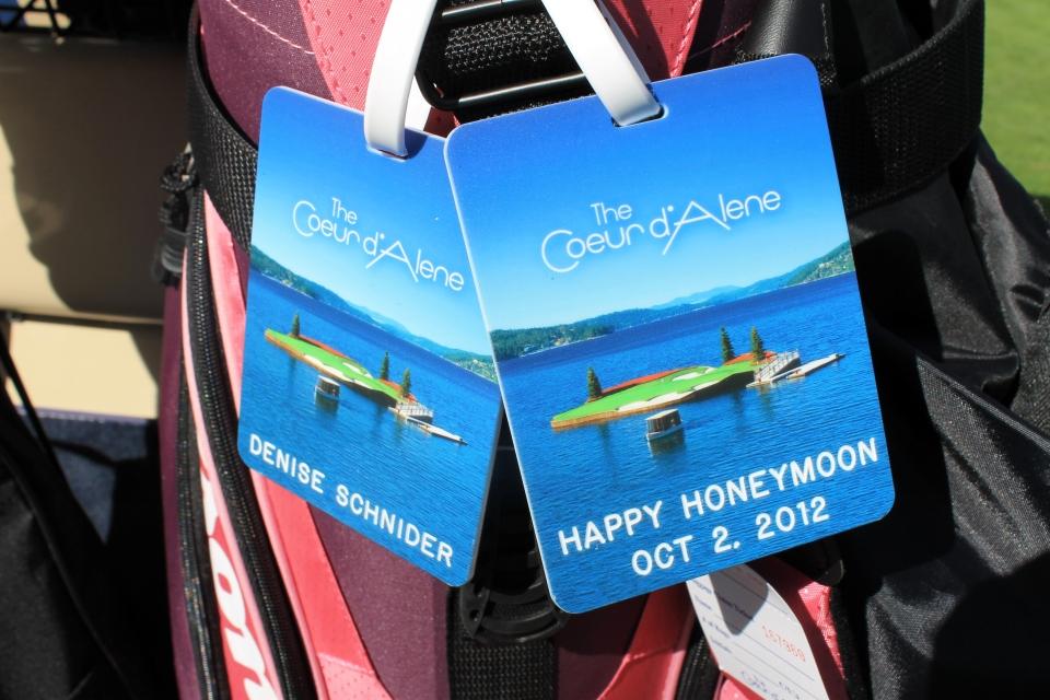 honeymoon golf tags