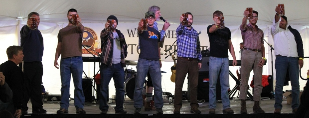 Stein holding at Great Northwest Oktoberfest